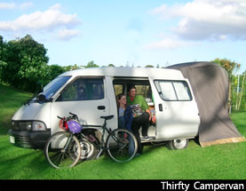 budget campervan rental  from auckland and chrisctchuces in New Zealand